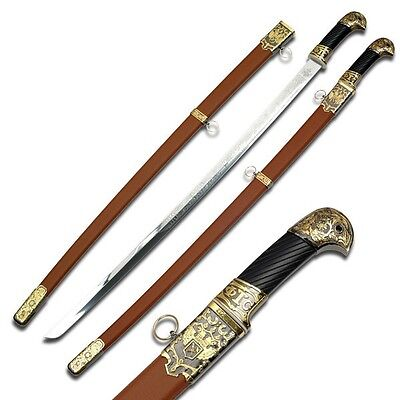 Imperial Russian Cossack Shashka Saber Sword with Brown Scabbard