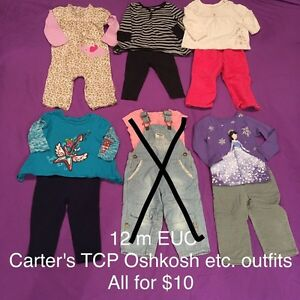 12 month clothing, lots of long sleeves London Ontario image 1