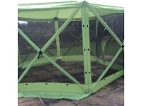 Gazebo with fly screen And wind panels 12 foot dia
