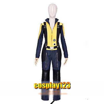 X-Men Raven Darkholme Mystique Cosplay Costume Yellow Bule Jumpsuits (Mystique X Men Kostüm)