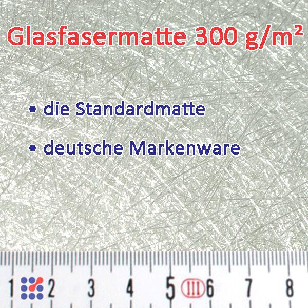 GLASMATTE, GLASVLIES, GLASFASERMATTE F. POLYESTERHARZ  EPOXIDHARZ POLYESTERVLIES Glasmatte 300 g/m²