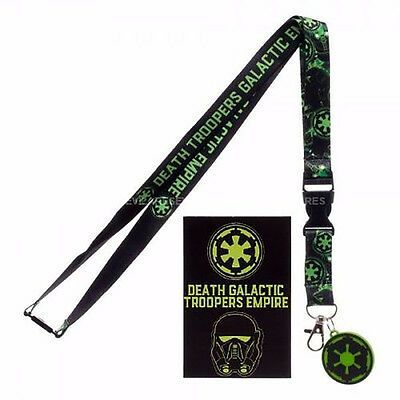 STAR WARS Rogue One Galactic Empire Logo Lanyard w/ Charm