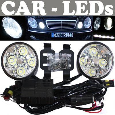 LED Tagfahrleuchten rund Tagfahrleuchten Mercedes C-Klasse W201 W202 W203 W204