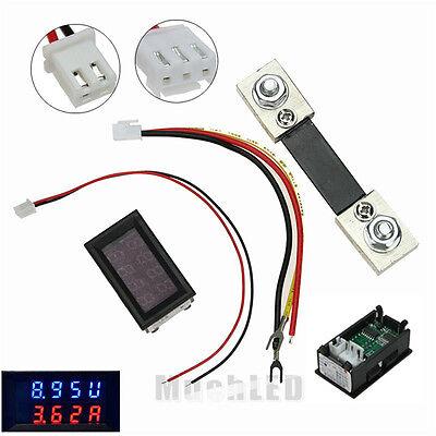 200V 100A DC Digital Voltmeter Ammeter LED Amp Volt Meter + Current Shunt