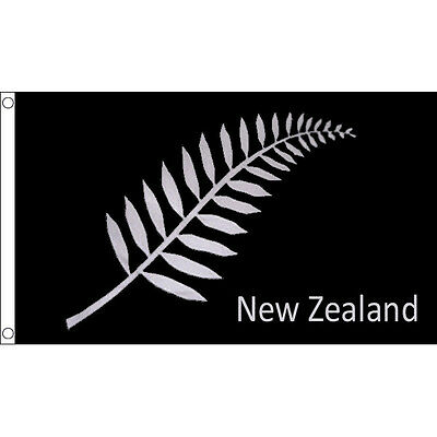 New Zealand Feather Fern Flag 3 x 2 FT - All Blacks Rugby World Cup 2015