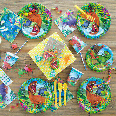 Dinosaur Childrens Birthday Party Tableware Decorations Kids T-Rex Supplies Cups