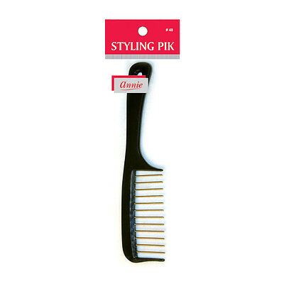 """Annie Styling Pik Hair Brush w/ Metal Teeth Wide Comb 8"""" Long #48 *Random Color for sale  Shipping to India"""