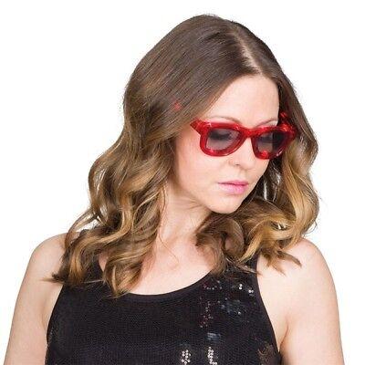 Kostüm-Zubehör LED Brille rot Karneval Fasching (Rote Kostüme Brille)