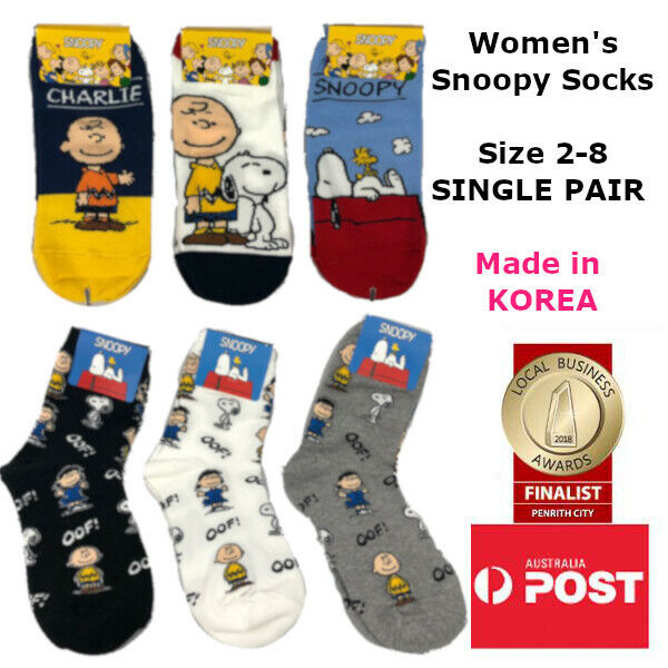 Women's Snoopy Ankle and Quarter Length Socks MADE IN KOREA