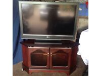 38 inch Sony Bravia LCD TV plus Rossmore TV and sky box cabinet
