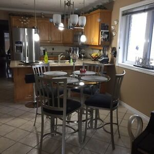 Stainless steel dining set Cambridge Kitchener Area image 3