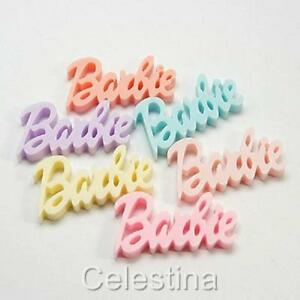 5 x Barbie - Resin Cabochon - Flat Back -  44 x 25mm - Mixed Colours - CAB30