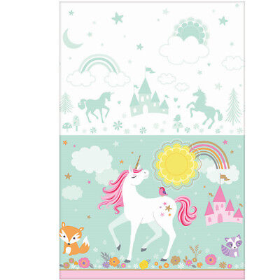 Magical Unicorn Paper Table Cover Girls Birthday Party Decoration Supplies Cloth](Paper Table Cloth)
