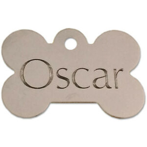 PET DOG CAT ENGRAVED ID TAG WITH SPLIT RING FREE SHIPPING