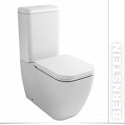 BERNSTEIN Stand WC mit Spülkasten Toilette mit Softclose Sitz CT101 Bodenstehend