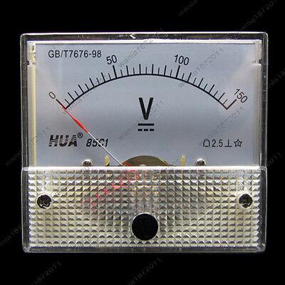 Dc 150v Analog Voltmeter Panel Pointer Volt Voltage Meter Gauge 85c1 0-150v Dc