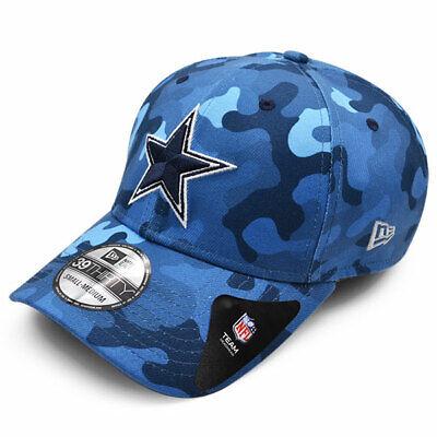 Dallas Cowboys Blue Urban Camo NFL 39THIRTY Flex Fit Hat - Kool Blue, Navy Urban Blue Camo