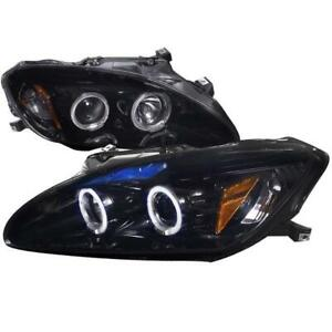 2004-2009 HONDA S2000 Smoked Lens Gloss Black Housing Projector Headlights, Oe Hid Compatible