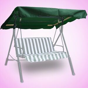 x43 outdoor swing canopy replacement porch top cover seat patio green