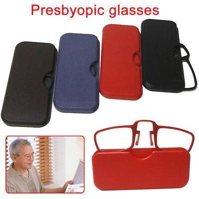 买便宜的Mini Clip Nose Reading Glasses Optics Pocket Wallet Unisex Ultra Thin With Case