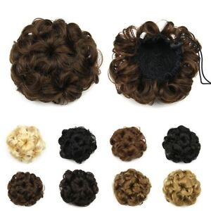 Wavy Curly Hair Bun Cover Hairpiece Scrunchie,Chignon diam.10cm Yellowknife Northwest Territories image 9