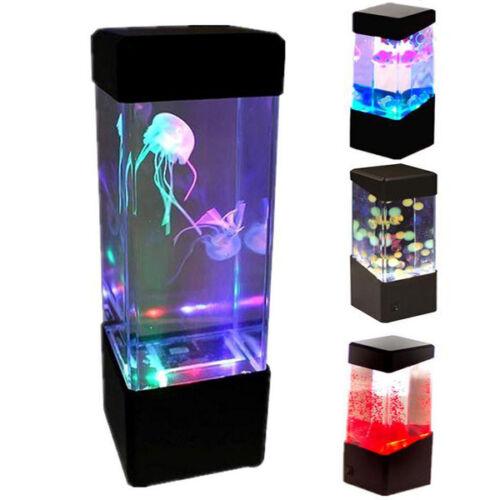 New Relaxing Bedside Mood Lamp Volcano Water Aquarium Fish Tank Led Light Js Ebay