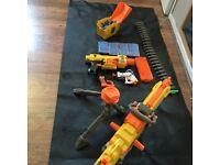 Nerf Gun Bundle 4 Guns + Accessories