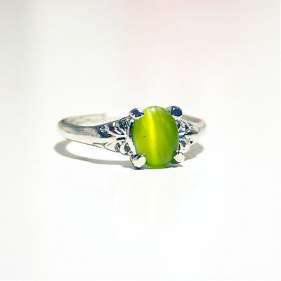 Silver Plated Lime Gem