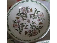 PORTMERIEON ASST CHINA! COFFEE SET,LARGE BOWL, 2 TIER CAKE STAND,OBLONG DISH,CAKE STAND! ECT?