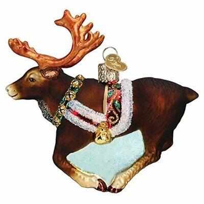 Old World Christmas 12573 Glass Blown Reindeer Ornament