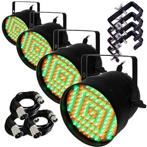 4X Equinox Party Par LED 56 Par Can DMX Disco Party Lighting Effects FREE GIFTS