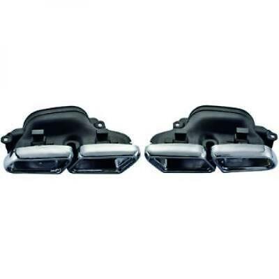 Sportauspuffblenden Auspuff Endrohr Mercedes S-Klasse W222 13- AMG Optik