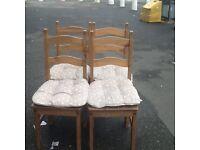 4 corona pine chairs