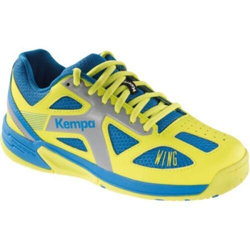 Kempa Handball Schuhe, Sportschuhe WING JUNIOR Kinder, ashblue/spring yellow