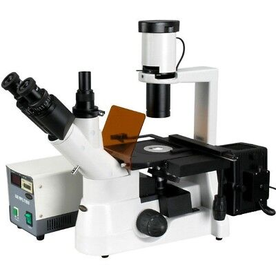 Amscope 40x-400x Plan Phase Contrast Culture Fluorescent Inverted Microscope
