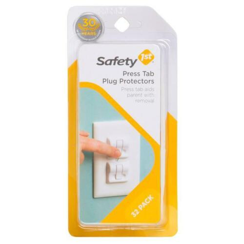 Safety 1st Press Tab Outlet Plug Protectors, Baby Proofing 32 ct. NEW!!