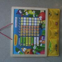 Veggie tales! wooden Chore Chart! great Condition!