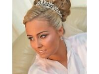 Professional makeup artist and hair stylist bridal party