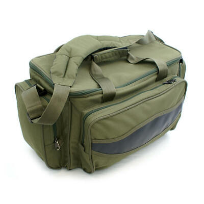 Abode Green Insulated Fishing Carryall Carp Fishing Camping Tackle Bag