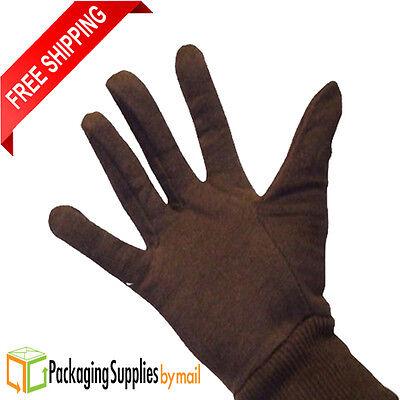 Brown Jersey Work Gloves for Men's (60 Pairs) 5 Dozen