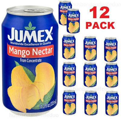 (12 PACK CANS) JUMEX MANGO NECTAR - 11.30 FL OZ EACH - THICK SWEET JUICE (Jumex Mango Nectar)