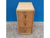 Retro 3 Drawer Bedside Cabinet