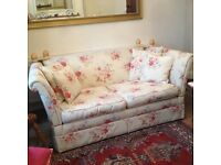Laura Ashley sofa settee langham floral cream