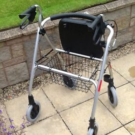 4 wheel rollator with seat in original packaging