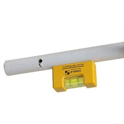 Stabila Outil Mini Niveau Poche Pro Magnétique Aluminium Core 17953 avec clip ceinture