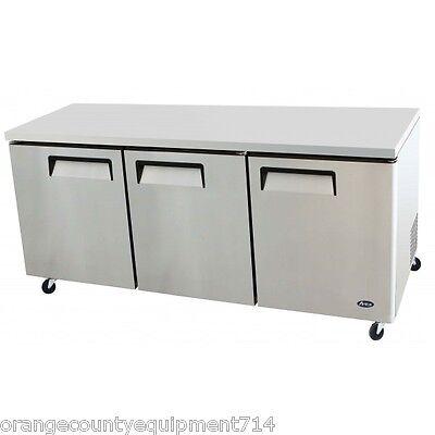 New 72 3 Solid Door Under Counter Refrigerator Atosa Mgf8404 2217 Nsf Cooler