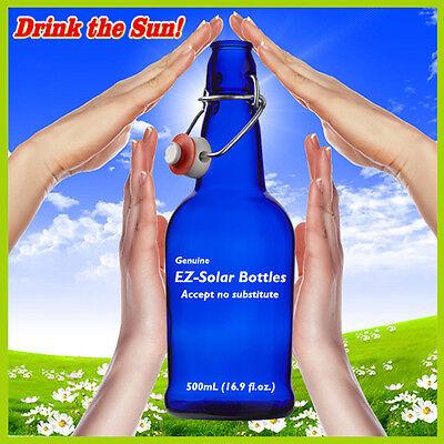 Blue Glass Solar Water Bottles, Blue Glass Bottles, (16 oz), EZ-Solar - 1 Each