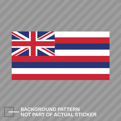 Hawaii Flag Sticker Decal Vinyl hawaiian state the aloha ()