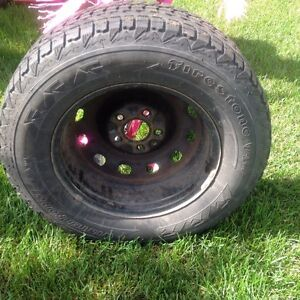 P225 /70 R16 studded tires and rims