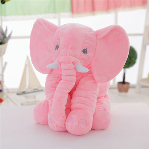 new stuffed elephant doll stuffed animal pillow large giant big huge plush toys ebay. Black Bedroom Furniture Sets. Home Design Ideas